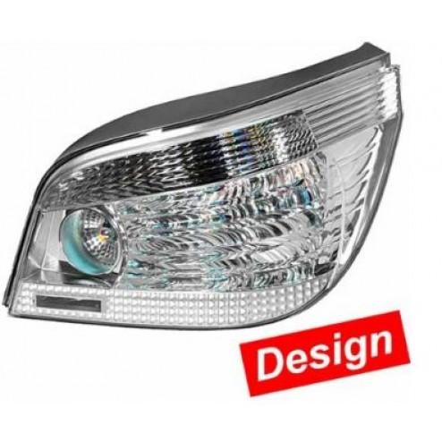 BMW 5 E60 srebrne